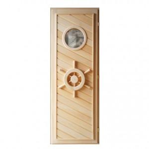 Дверь для бани из липы