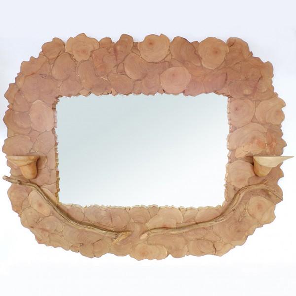 Зеркало из можжевельника